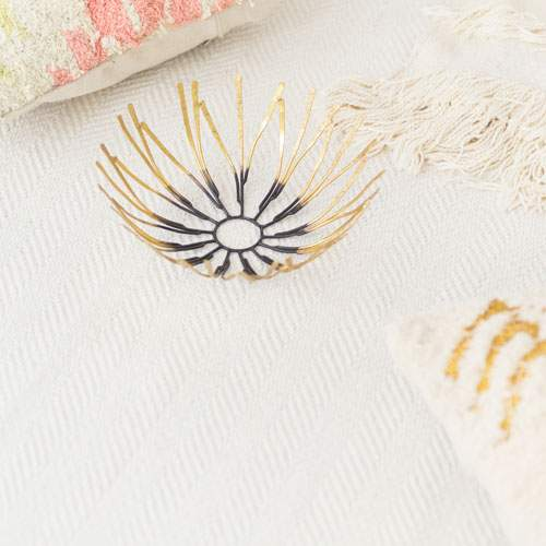 Baumwollteppich HERRINGBONE beige