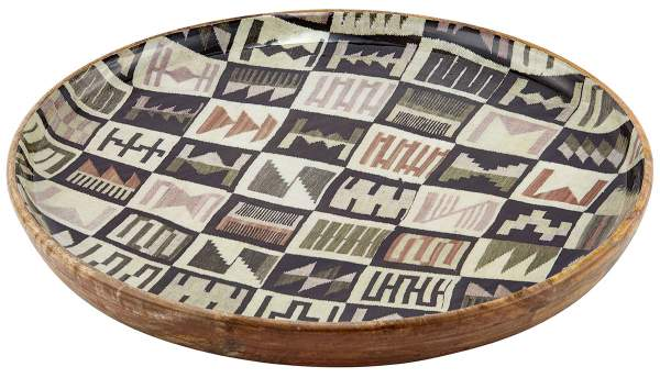 Dinner tray HABIBOU made from mango wood