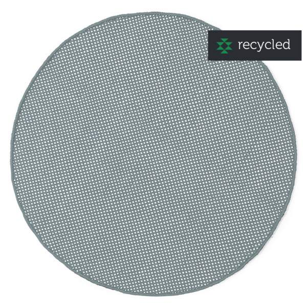 Round PET rug DOTS I grey