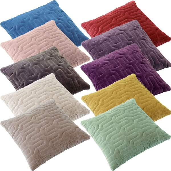 Quilted velvet cushion covers