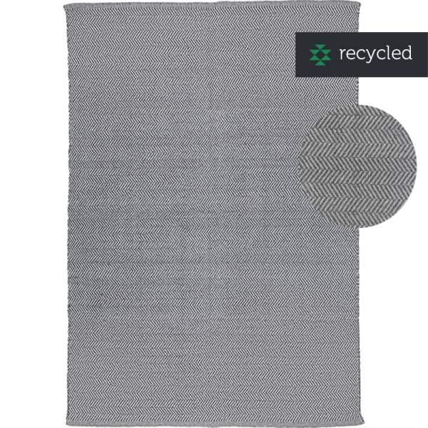 Teppich HERRINGBONE I Baumwolle greys