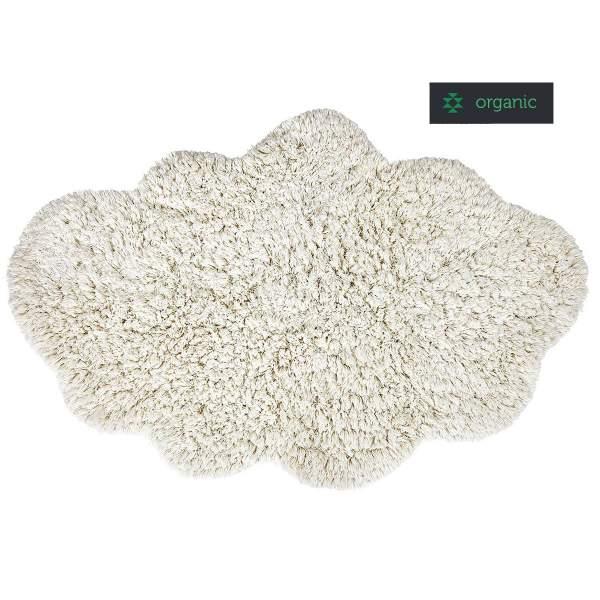 Schlichter wolkenförmiger Teppich CLOUD in weiß von liv interior