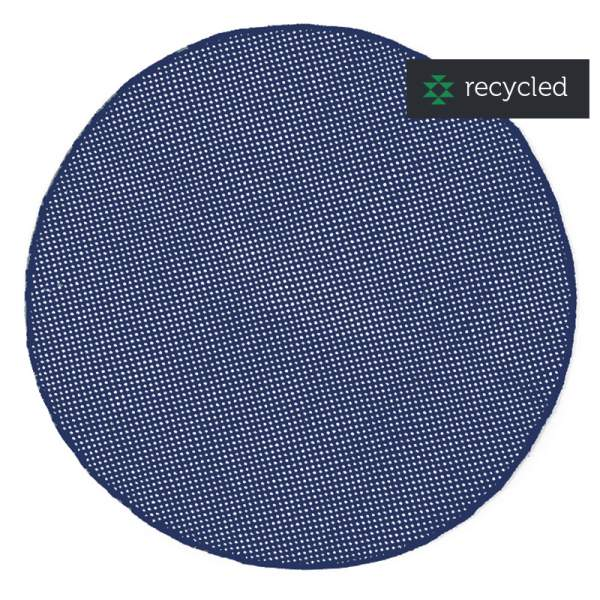 Runder In-/Outdoor-Teppich DOTS I blue