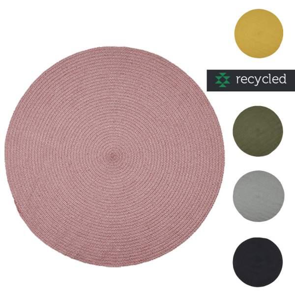 Runde Teppiche aus Baumwolle I diverse Fraben I liv interior