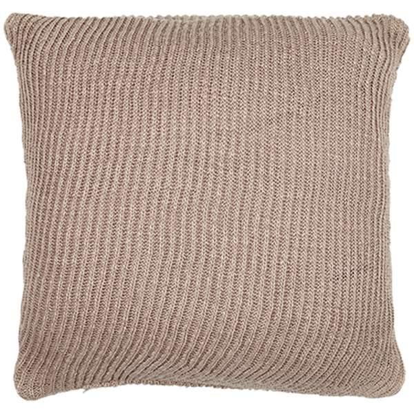 Knitted outdoor cushion I mauve I liv interior