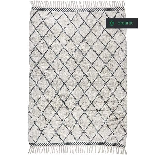 Shaggy rug MOROCCO I organic cotton