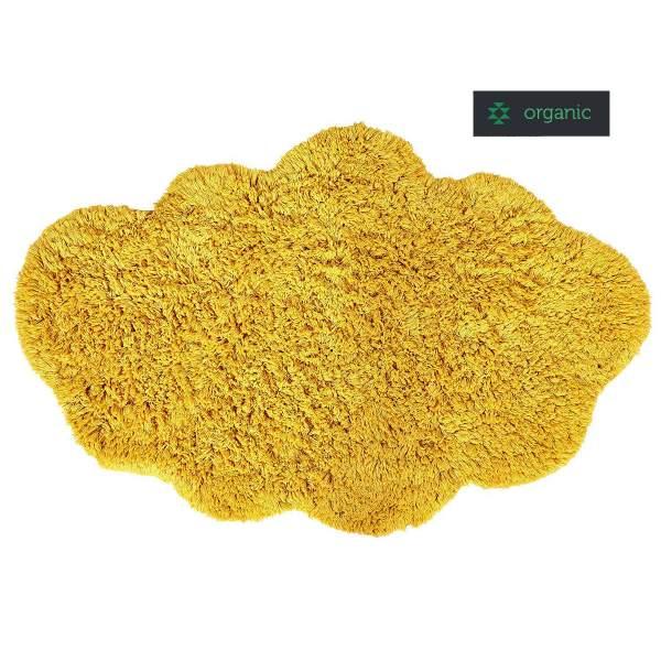 Nachhaltiger gelber Teppich in Wolkenform CLOUD von liv interior