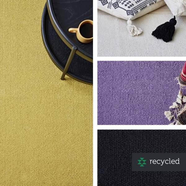 Schlichter Teppich aus recycleter Baumwolle I liv interior
