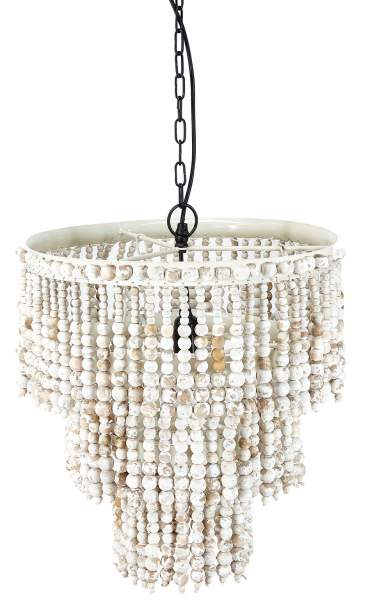 Chandelier with wooden pearls