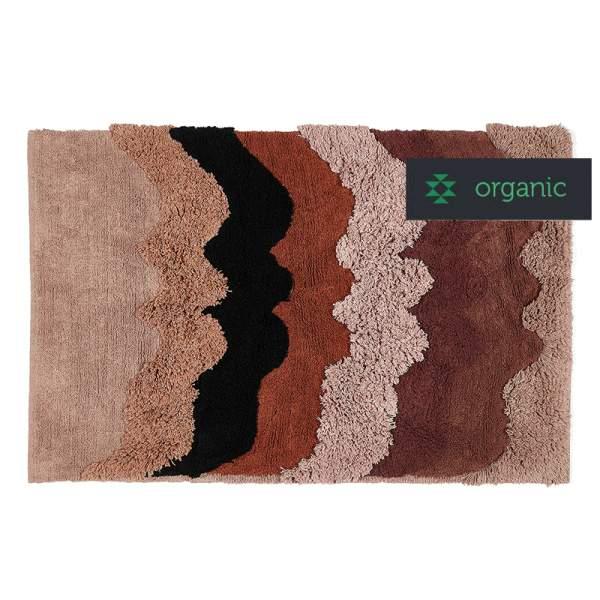 Shaggy HUMANS rug | Organic cotton