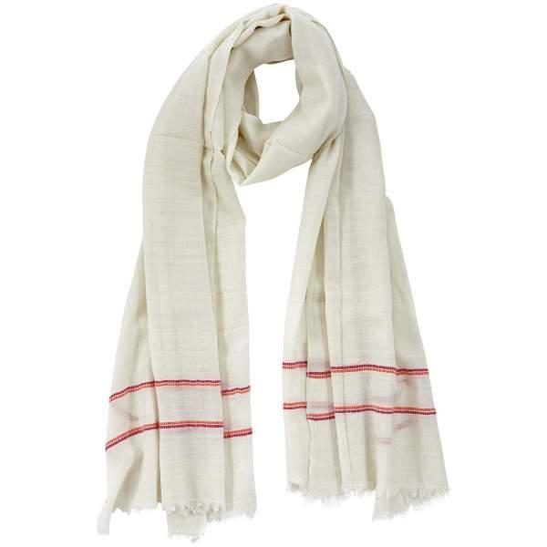 Weißer Schal aus Pashminawolle